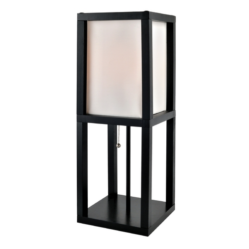 Lite Source Lighting Lite Source Lighting Elske Black Table Lamp with Rectangle Shade LS-22317
