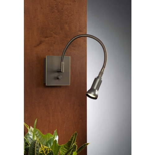 Holtkoetter Lighting Holtkoetter Modern Wall Lamp in Hand-Brushed Old Bronze Finish 6265 HBOB