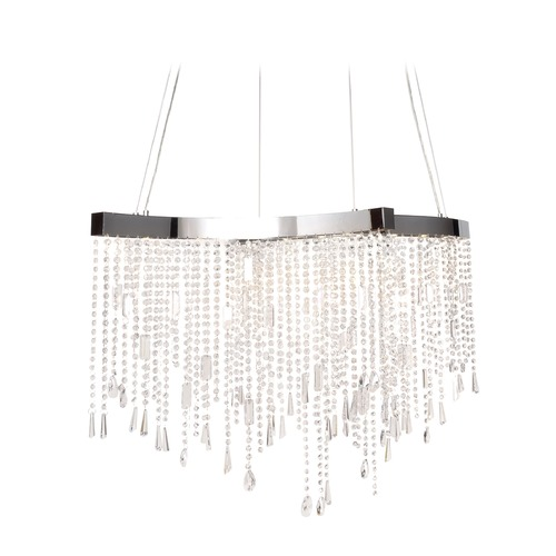 ET2 Lighting Crystal Sensation LED Polished Chrome LED Pendant Light E20704-20PC