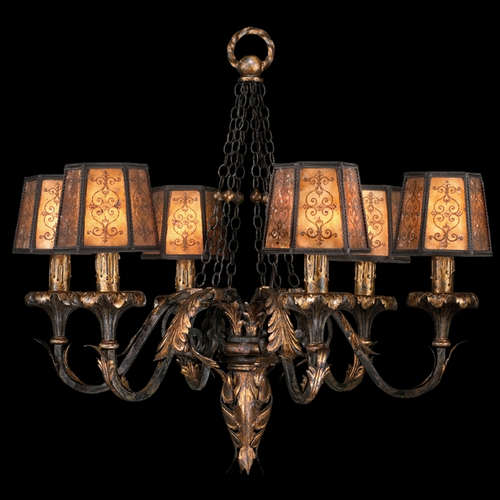 Fine Art Lamps Fine Art Lamps Epicurean Charred Iron with Brule Highlights Chandelier 404840ST