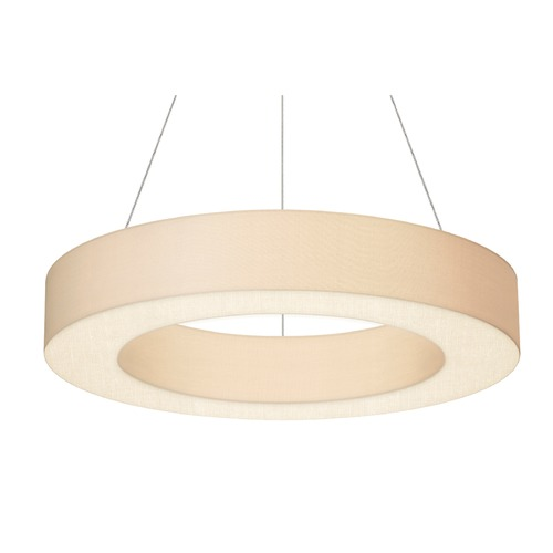 Sonneman Lighting Sonneman Ring Shade Satin White LED Pendant Light with Drum Shade 2484.03