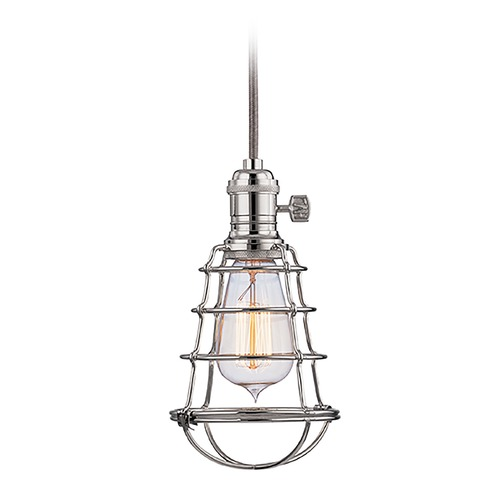 Hudson Valley Lighting Hudson Valley Lighting Heirloom Polished Nickel Mini-Pendant Light 8002-PN-WG