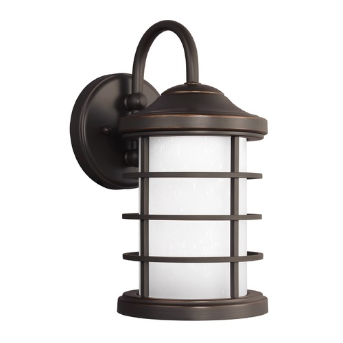 Sea Gull Lighting Sea Gull Sauganash Antique Bronze LED Outdoor Wall Light 8524491S-71
