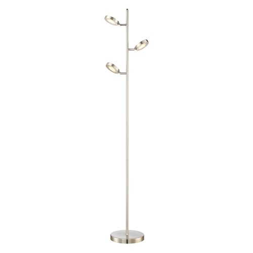 Quoizel Lighting Quoizel Lighting Quoizel Portable Lamp Brushed Nickel Floor Lamp Q2603FBN