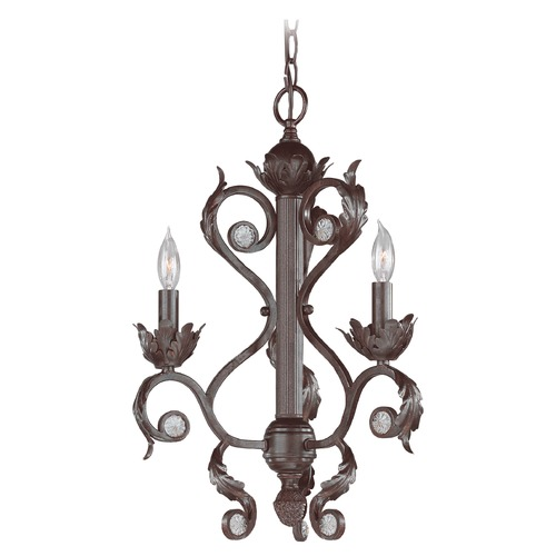 Crystorama Lighting Crystorama Lighting Winslow Dark Rust Mini-Chandelier 6803-DR