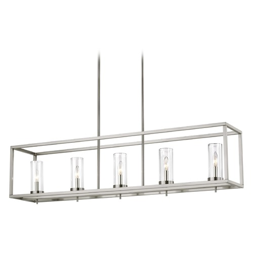 Sea Gull Lighting Sea Gull Lighting Zire Brushed Nickel LED Island Light with Cylindrical Shade 6690305EN-962