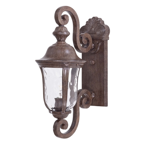 Minka Lavery Outdoor Wall Light with Clear Glass in Vintage Rust Finish 8990-61