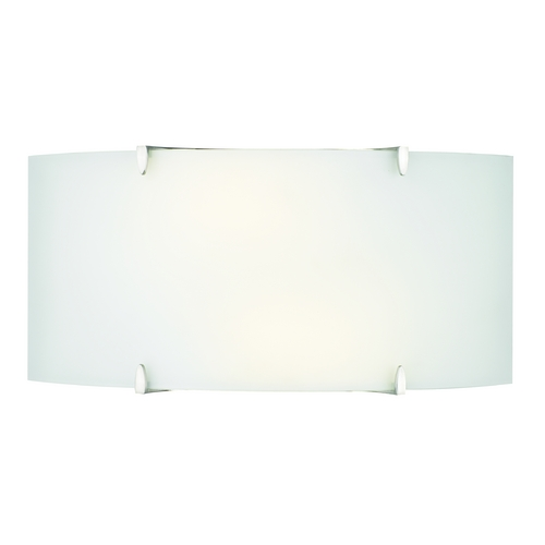 Philips Lighting Modern Bathroom Light with White Glass in Satin Nickel Finish F540436