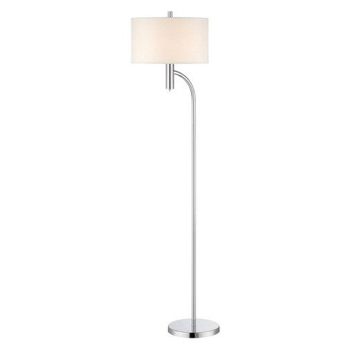 Lite Source Lighting Lite Source Lighting Chantay Chrome Floor Lamp with Drum Shade LS-82232