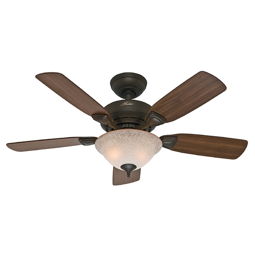 Hunter Fan Company Hunter Fan Company Caraway New Bronze Ceiling Fan with Light 52082