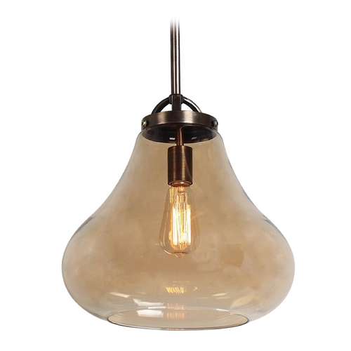 Access Lighting Access Lighting Flux Distressed Bronze Pendant Light 55546-DBRZ/AMB