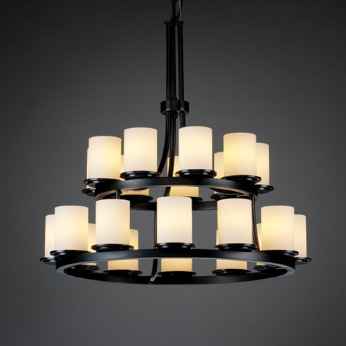 Justice Design Group Justice Design Group Fusion Collection Chandelier FSN-8767-10-OPAL-MBLK