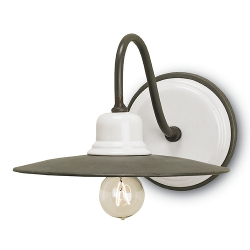 Currey and Company Lighting Currey and Company Lighting Hiroshi / White Sconce 5154