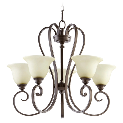 Quorum Lighting Quorum Lighting Celesta Oiled Bronze Chandelier 6053-5-86