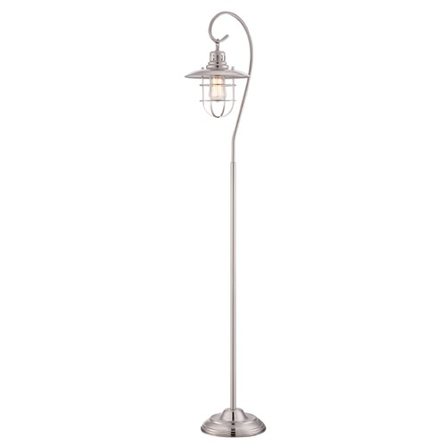 Lite Source Lighting Lite Source Lighting Lanterna Polished Steel Floor Lamp LS-81456PS