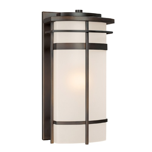 Capital Lighting Frosted Glass Outdoor Wall Light Bronze Capital Lighting 9881OB