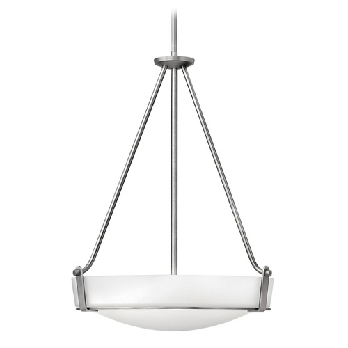 Hinkley Lighting Hinkley Lighting Hathaway Antique Nickel Pendant Light with Bowl / Dome Shade 3222AN-GU24