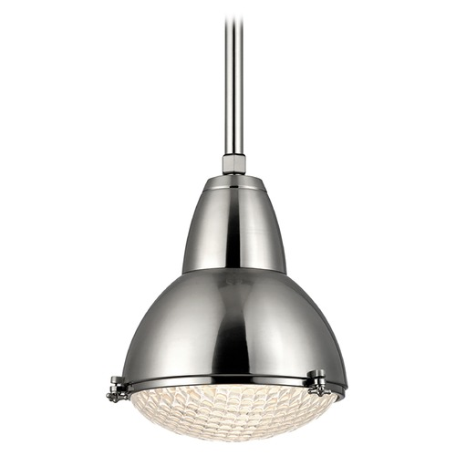Hudson Valley Lighting Hudson Valley Lighting Belmont Satin Nickel Pendant Light with Bowl / Dome Shade 8113-SN