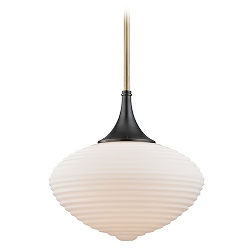 Hudson Valley Lighting Hudson Valley Lighting Knox Aged Old Bronze Pendant Light with Oblong Shade 1916-AOB