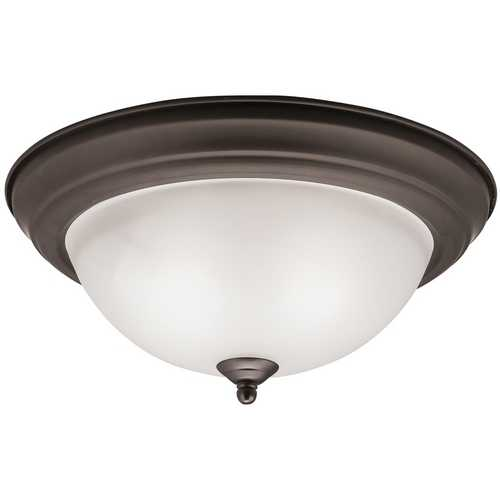 Kichler Lighting Kichler Modern Flushmount Light in Olde Bronze Finish 8112OZ