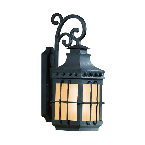 Troy Lighting Outdoor Wall Light with Amber Glass BF8971NB