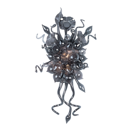 Maxim Lighting Modern LED Sconce with Grey in Polished Chrome Finish 39728FMPC
