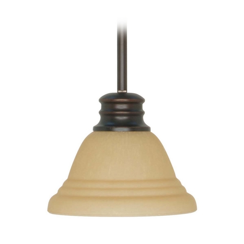 Nuvo Lighting Mini-Pendant Light with Beige / Cream Glass 60/3132