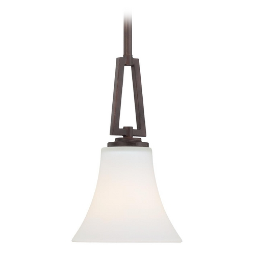 Minka Lavery Mini-Pendant Light with White Glass 4931-284