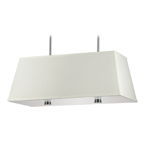 Sea Gull Lighting Modern Pendant Light with White Shades in Brushed Nickel Finish 65266-962