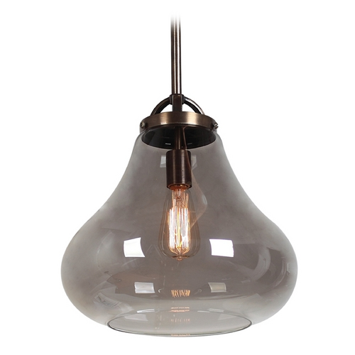 Access Lighting Access Lighting Flux Distressed Bronze Pendant Light 55546-DBRZ/SMK