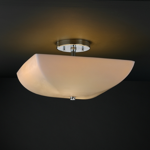Justice Design Group Justice Design Group Porcelina Collection Semi-Flushmount Light PNA-9695-25-SMTH-CROM