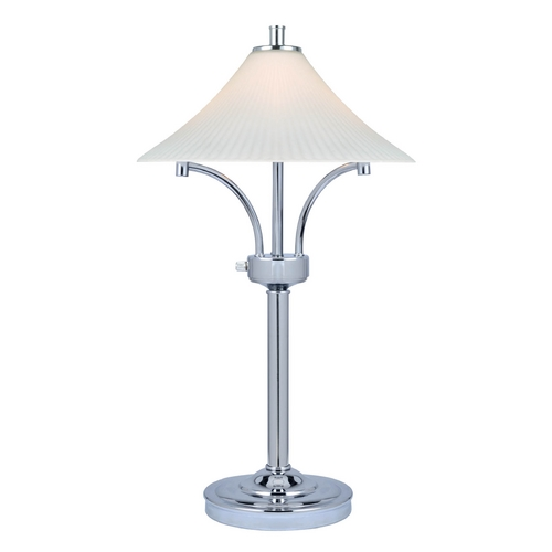 Lite Source Lighting Lite Source Lighting Ragnar Chrome Table Lamp with Fluted Shade LS-22229