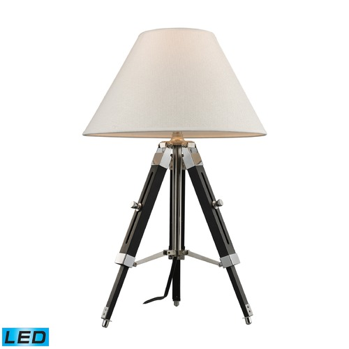 Dimond Lighting Dimond Lighting Chrome, Black LED Table Lamp with Coolie Shade D2125-LED