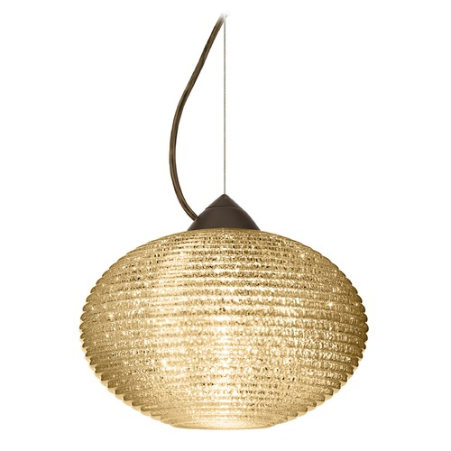 Besa Lighting Besa Lighting Pape Bronze Pendant Light with Globe Shade 1KX-4913GD-BR