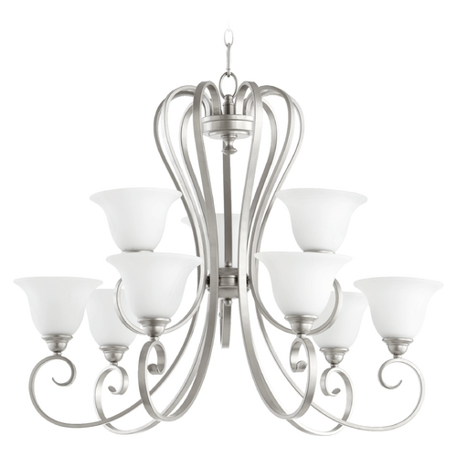Quorum Lighting Quorum Lighting Celesta Classic Nickel Chandelier 6053-9-64