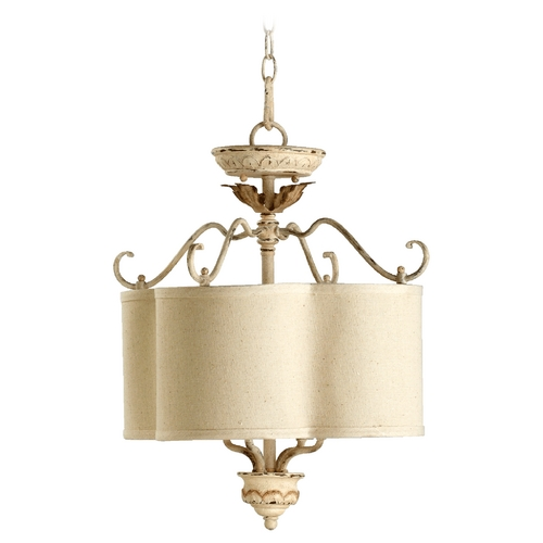 Quorum Lighting Quorum Lighting Salento Persian White Pendant Light with Drum Shade 2706-18-70
