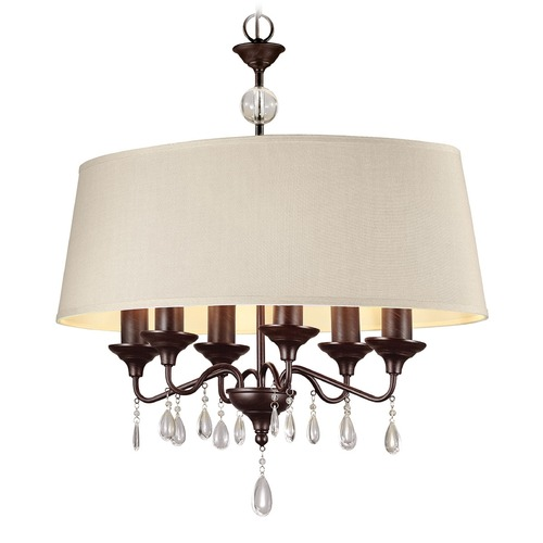 Sea Gull Lighting Sea Gull Lighting West Town Burnt Sienna Island Light with Drum Shade 6610506-710