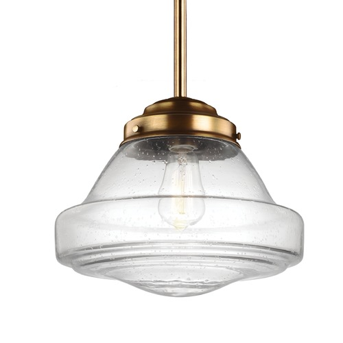 Feiss Lighting Feiss Alcott Aged Brass Pendant Light P1380AGB