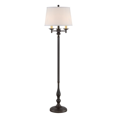 Quoizel Lighting Quoizel Lighting Vivid Collection Kingsley Palladian Bronze Floor Lamp with Empire Shade VVKY9658PN