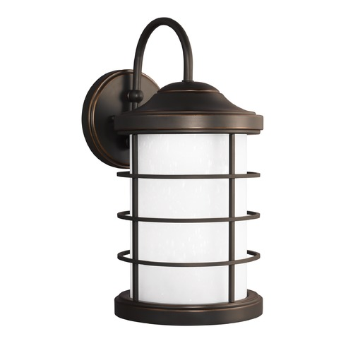Sea Gull Lighting Sea Gull Sauganash Antique Bronze LED Outdoor Wall Light 8624491S-71