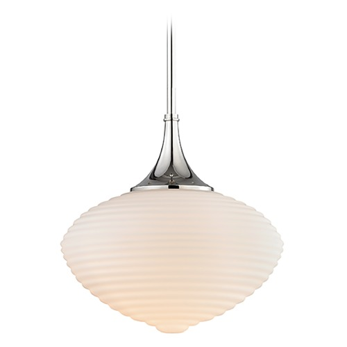 Hudson Valley Lighting Hudson Valley Lighting Knox Polished Nickel Pendant Light with Oblong Shade 1916-PN