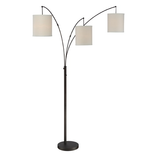 Quoizel Lighting Quoizel Lighting Quoizel Portable Lamp Oil Rubbed Bronze Floor Lamp with Cylindrical Shade Q2605FOI