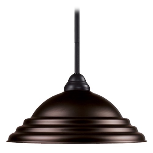 Z-Lite Z-Lite Riviera Bronze Pendant Light with Bowl / Dome Shade 2114MP-BRZ-SBRZ