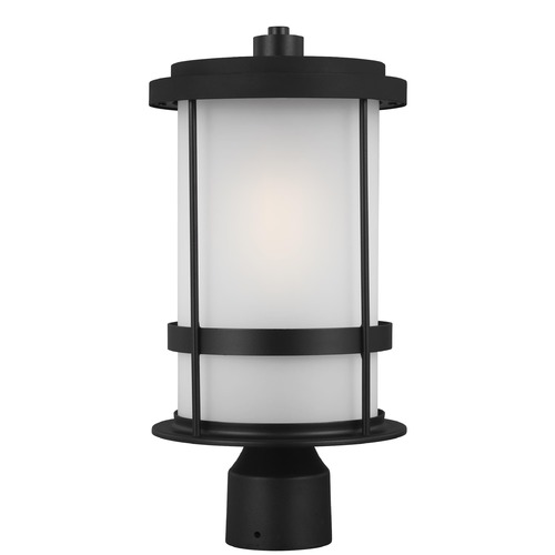 Sea Gull Lighting Sea Gull Lighting Wilburn Black Post Light 8290901-12