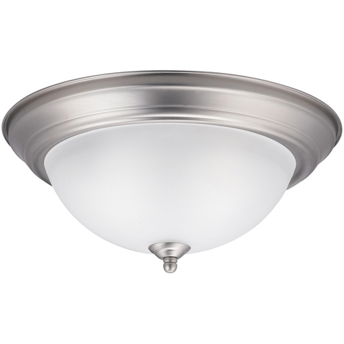 Kichler Lighting Kichler Modern Flushmount Light in Brushed Nickel Finish 8112NI