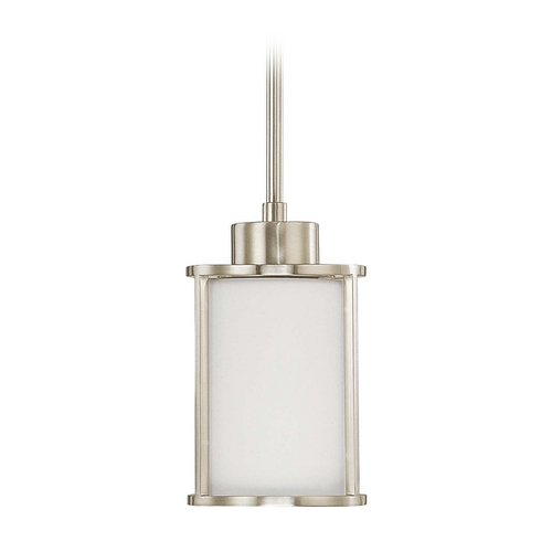 Nuvo Lighting Mini-Pendant Light with White Glass 60/3808