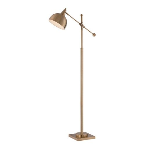 Lite Source Lighting Lite Source Cupola Brushed Brass Swing Arm Lamp with Bowl / Dome Shade LS-82604