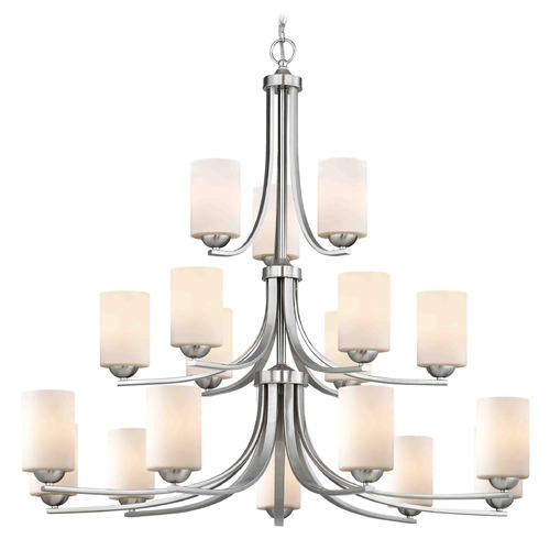 Design Classics Lighting Satin Nickel Chandelier 5863-09 GL1028C