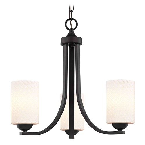 Design Classics Lighting Design Classics Dalton Fuse Neuvelle Bronze Mini-Chandelier 5843-220 GL1020C