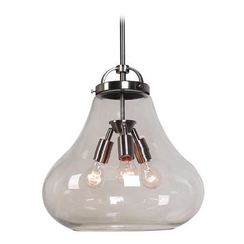 Access Lighting Access Lighting Flux Antique Nickel Pendant Light 55547-ANCK/CLR